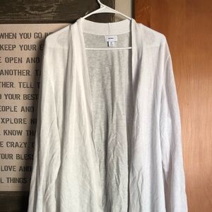 White open front summer/spring cardigan
